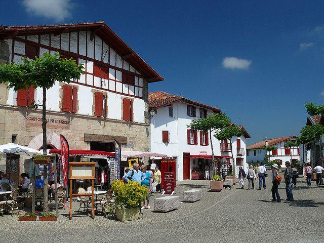 Le centre d'Espelette , Pyrénées-Atlantiques, Aquitaine, Pays Basque, France