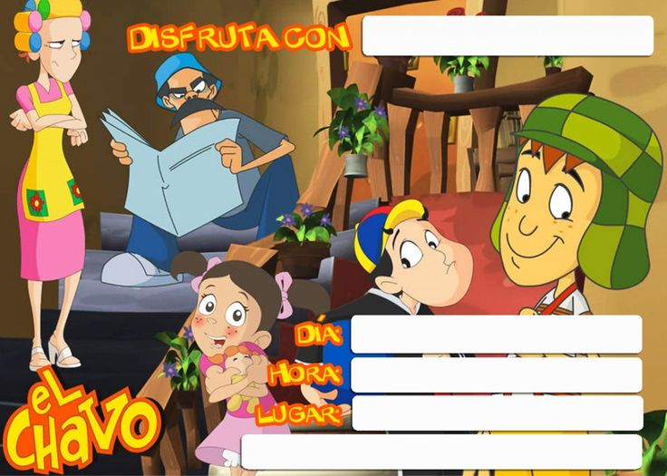 17 Best Images About El Chavo Del 8 Bday On Pinterest