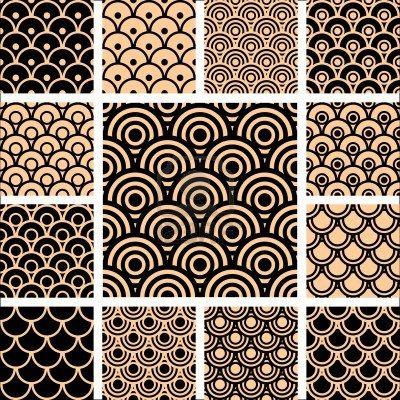 Seamless geometric patterns.