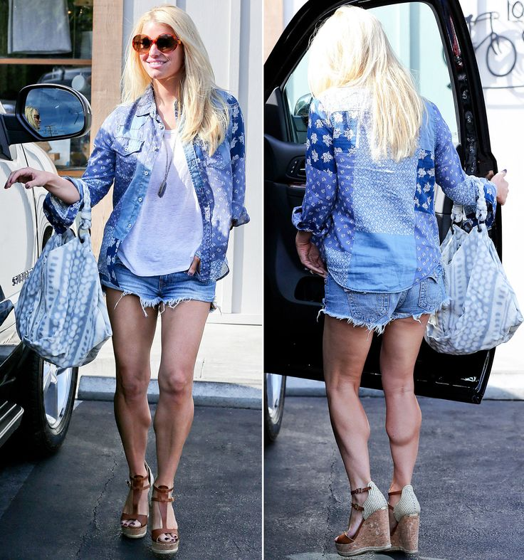 Jessica Simpson Flaunts Sculpted Legs in Daisy Dukes: See the Impressive Pictures!