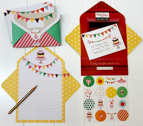 Katy Jane Party Bunting My Letter Pad available from Little Paper Lane