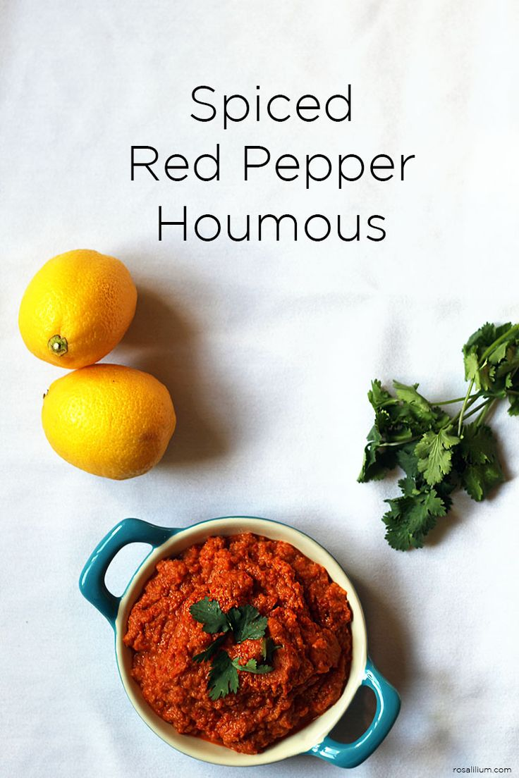 Spiced Roasted Red Pepper Houmous with Homemade Naan Bread Made with ...