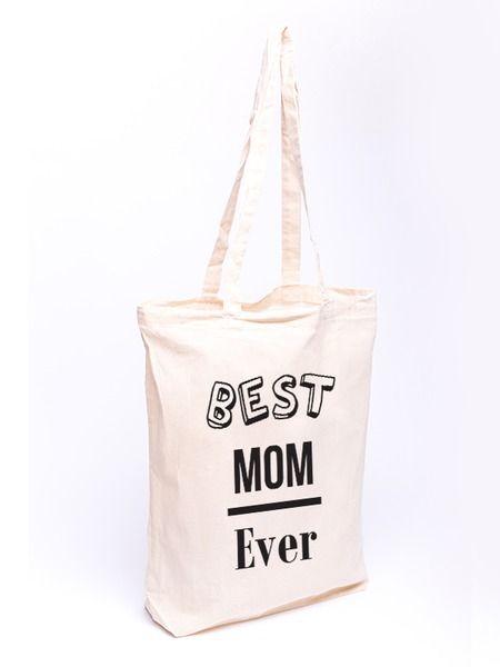Torba bawełniana - Best Mom Ever - czarny w Allbag-Allprints na DaWanda.com