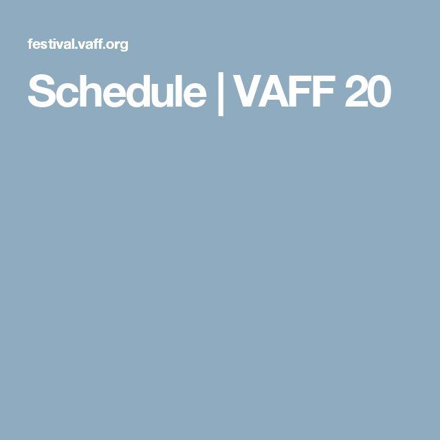 Schedule | VAFF 20