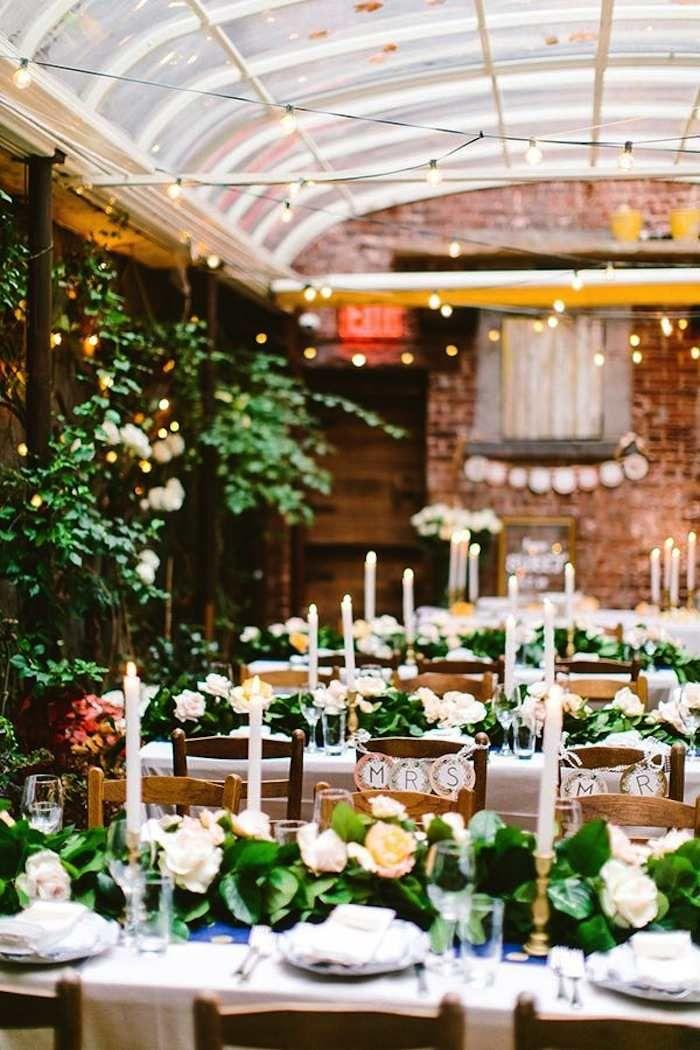 Restaurant weddings for modern inspiration green
