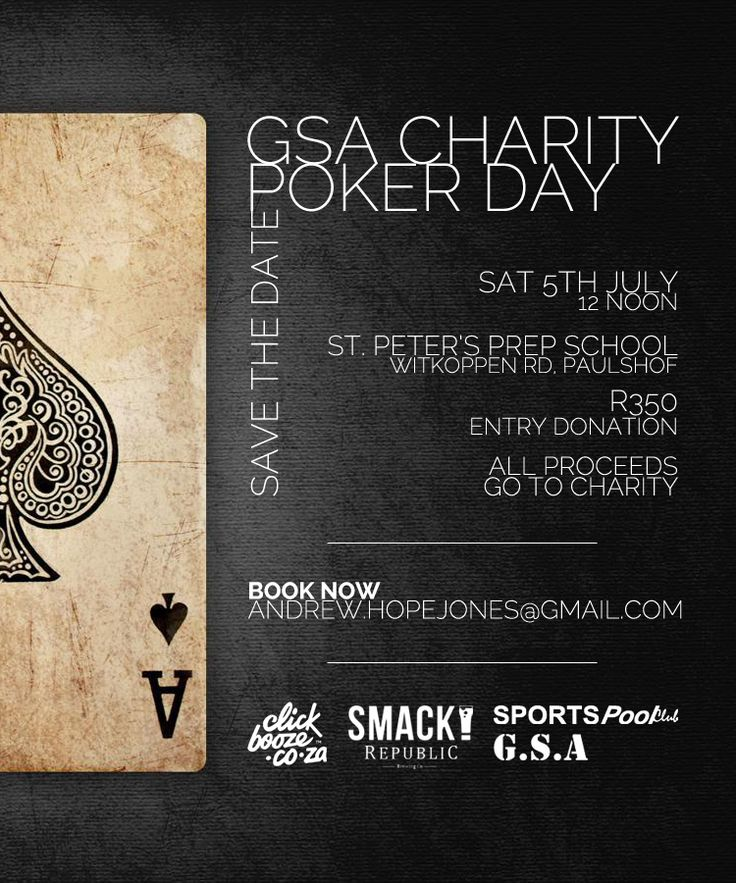 Charity poker day