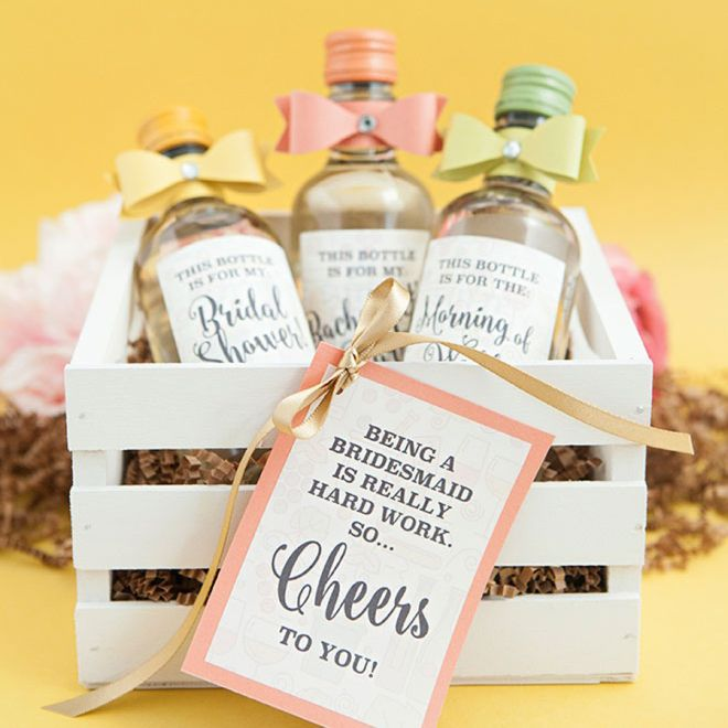 We give you the free label download, you design what you want it to say and slap it on! These are the cutest wine bottle wedding favors we have ever seen!