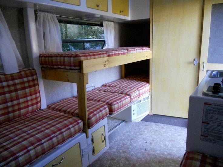 33 best images about fiberglass travel trailers on for Rv loft bed