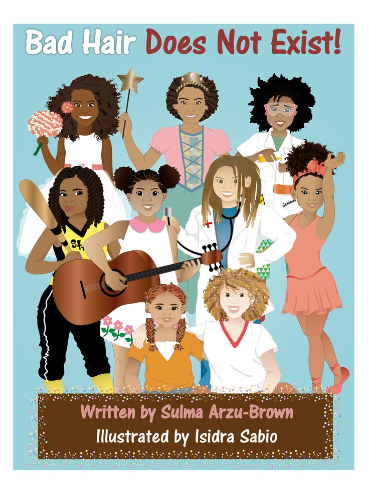 """""""Bad Hair Does Not Exist"""" is a book that was created to empower little girls so they can embrace and love their beautiful natural hair. Fun illustrations were created to help describe different types of hair and hairstyles!  Written by Sulma Arzu-Brown and illustrated by Isidra Sabio Published by Afro-Latin publishing https://www.facebook.com/AfroLatinPublishing  and amazon #nobadhair #blackpeople #naturalhair #blackgirls #badhairdoesntexit"""