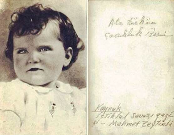 Mustafa Kemal Atatürk'ün çocukluk resmi.
