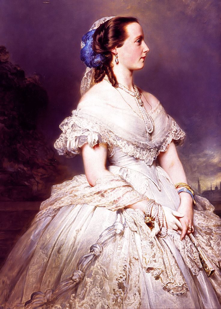 Portret van koningin Maria Hendrika, ca. 1865, Franz Xaver Winterhalter, Royal collection, Castle of Laeken 157 cm x 106 cm
