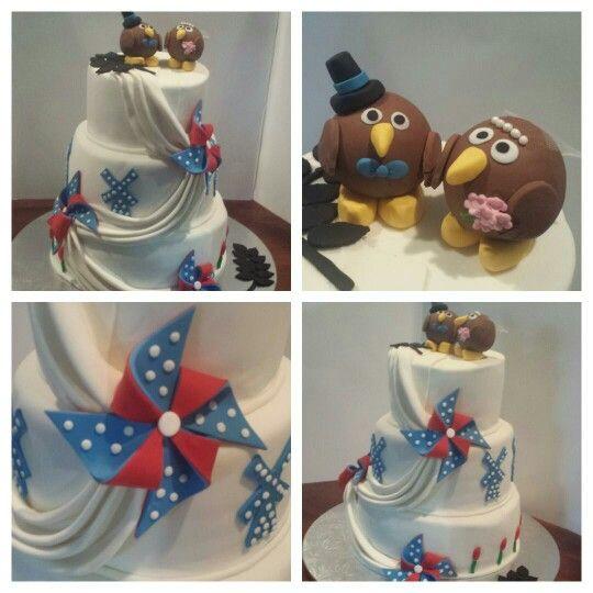 Dutch/kiwi wedding cake