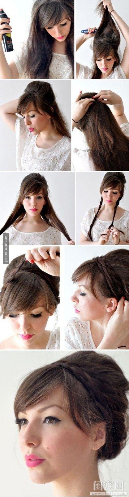 Ide Terbaik Ide Gaya Rambut Di Pinterest Gaya Rambut - Gaya rambut pendek kepang