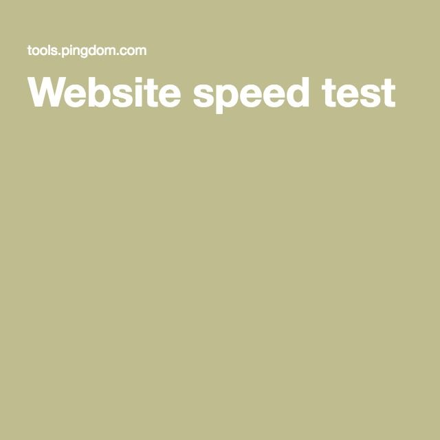 Website speed test (gedetailleerde analyse)