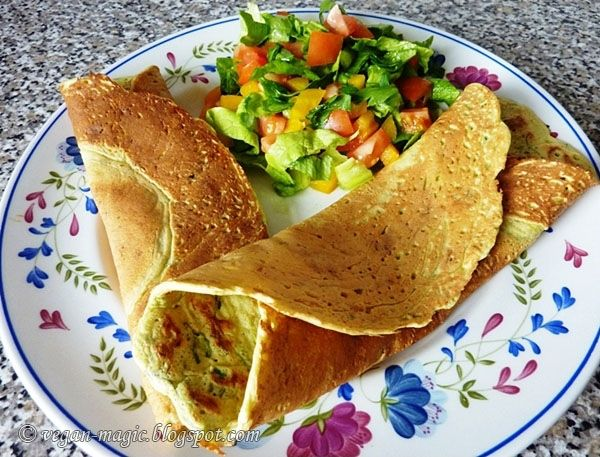 Besan Dosa Indian chickpea flour crepe that has shredded zucchini in it.  Looks so interesting and easy.