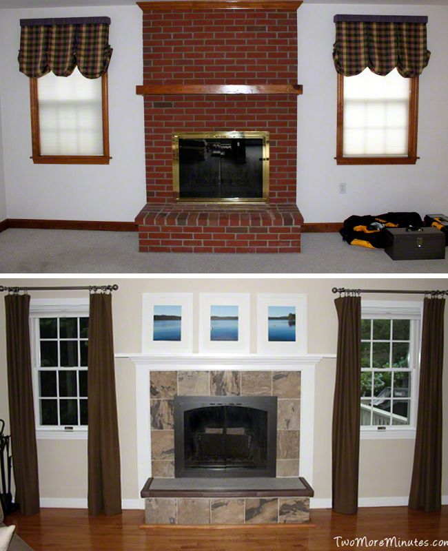 Fireplace Makeover Before And After Two More Minutes At Home Pinterest Home Renovation
