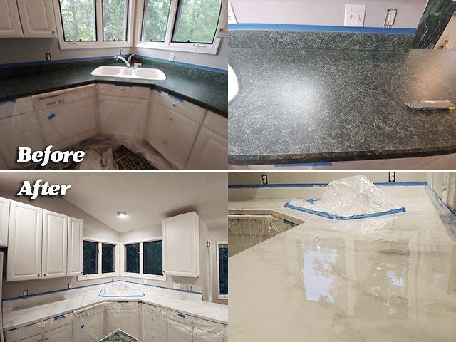 Stunning Before And After Kitchen Countertop
