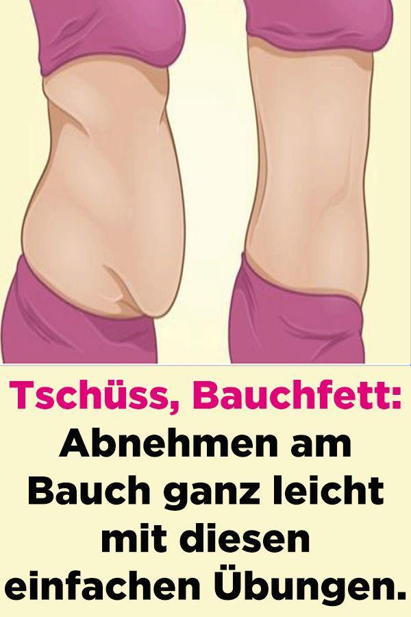 Übungen zum Abnehmen im Magen