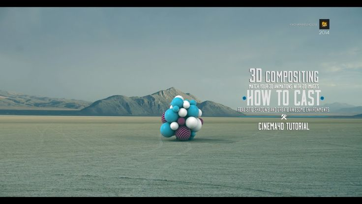 Cinema 4D Tutorial compositing (3d animations on 2d images)