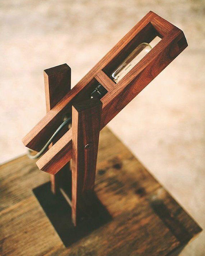 Plover Desk Lamp by Petrified Design #walnut #desklamp #lighting #wood #handcrafted