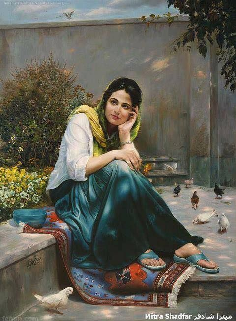 by Mitra Shadfar (Iran). See more of her evocative paintings at http://mitrashadfar.com   www.realegypt.com