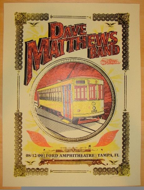 2009 Dave Matthews Band - Tampa Concert Poster by Methane