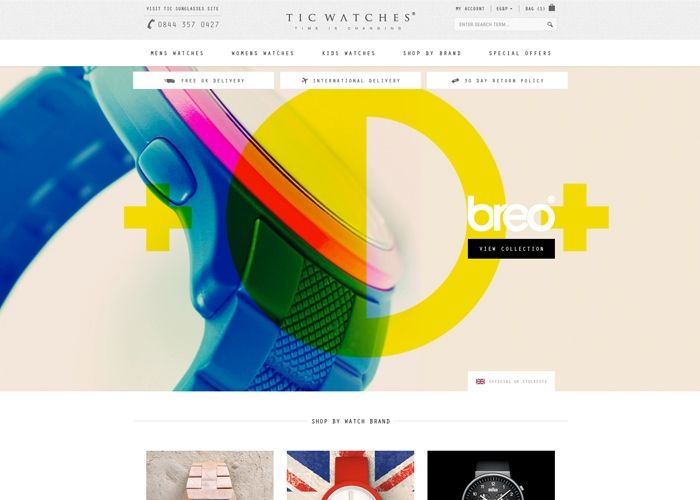Tic Watches | CSS Website