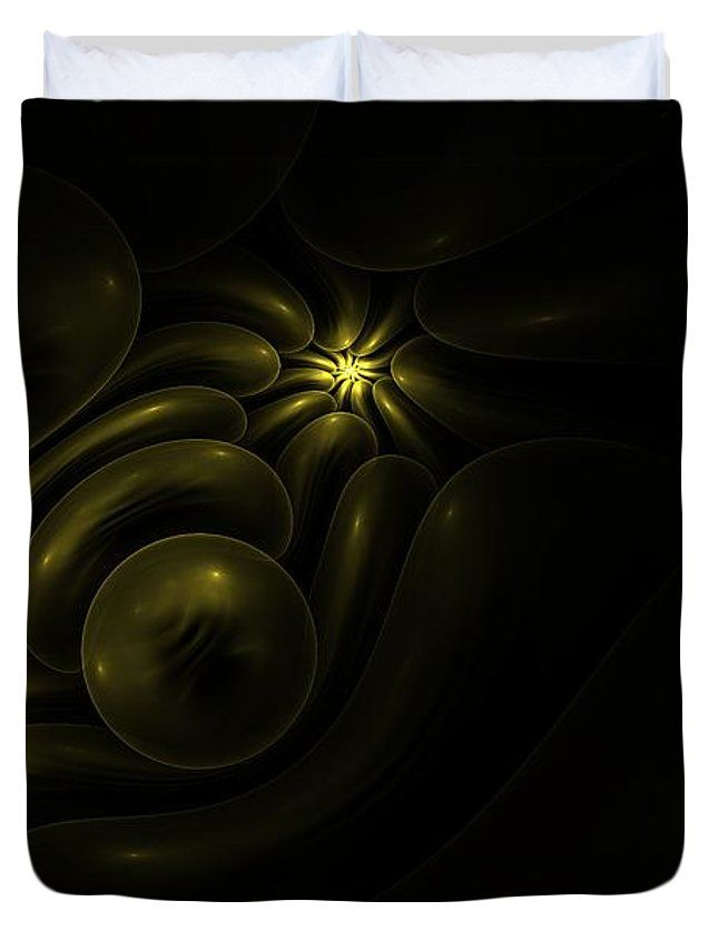 Fractal Duvet Cover featuring the photograph Hidden Treasure. Version 2 by Elena Ivanova IvEA  #ElenaIvanovaIvEAFineArtDesign #ForHome #DuvetCovers #Gift