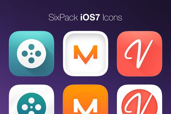 I just released SixPack iOS7 Icons on Creative Market.