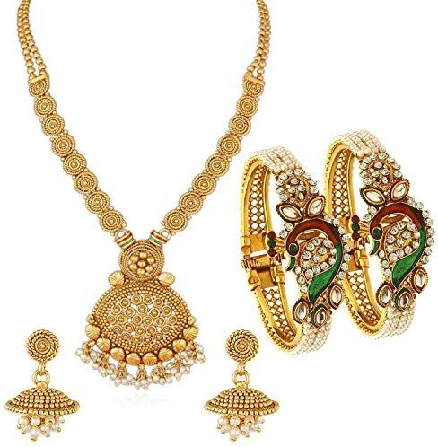 76a3d9ce0 Buy Sukkhi Gold Plated Jewellery Set for Women (CB73405) Online at Low  Prices in