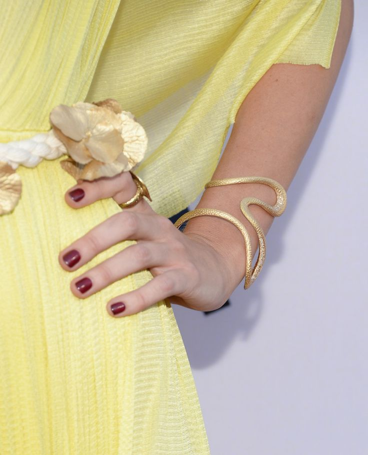 Actress Christine Marzano wearing Antonini cuff and a ring to the 'Paranoia' - Los Angeles Premiere at DGA Theater on August 8, 2013 in Los Angeles, California.