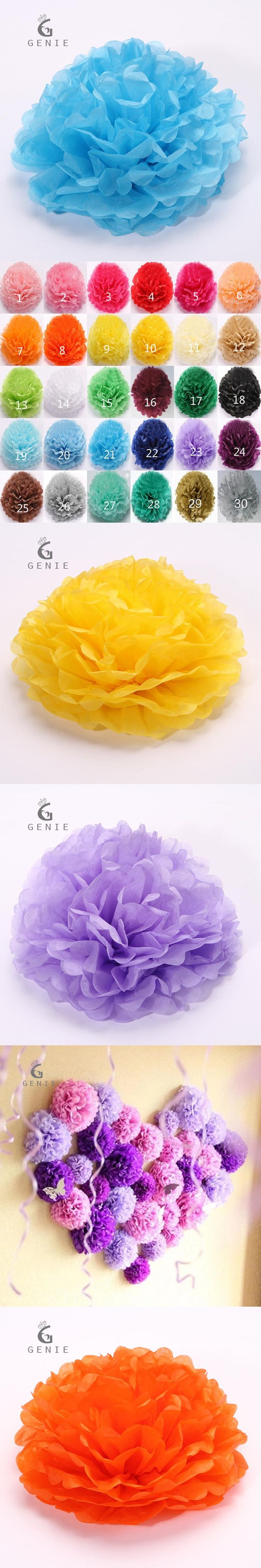 Genie Tissue Paper Pom Poms Wedding Party Decor Paper Ball Flower For  Wedding Home Party DIY Car Decoration Cheap