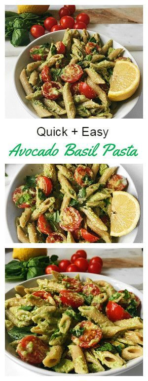 Quick and Easy Basil Avocado Pasta Recipe