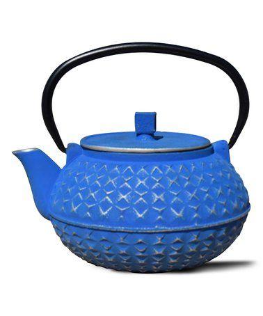 Loving this Blue & Silver Yorokobi Cast Iron Teapot on #zulily! #zulilyfinds