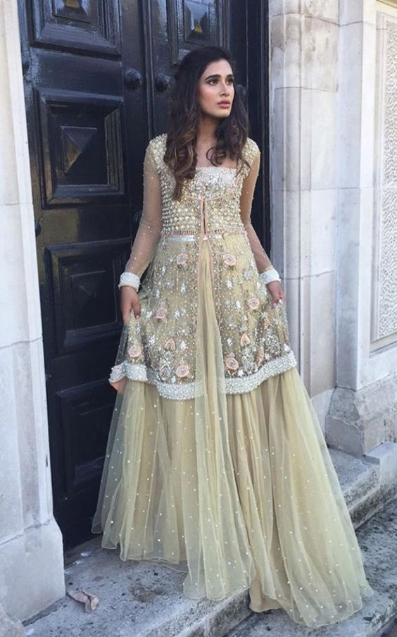 9a167783c7 Latest Pakistani Fashion Wedding Guest Dresses 2018 | BestStylo.com ...