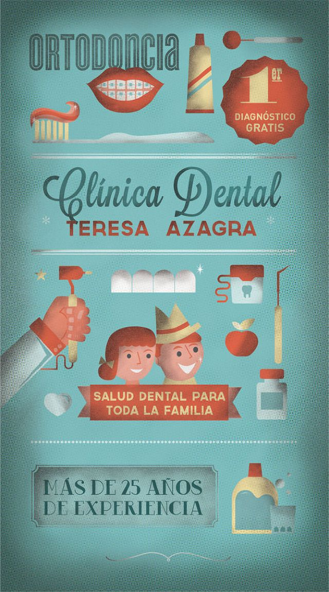 "Design illustration for the new campaign for Dental Clinic ""Teresa Azagra""."