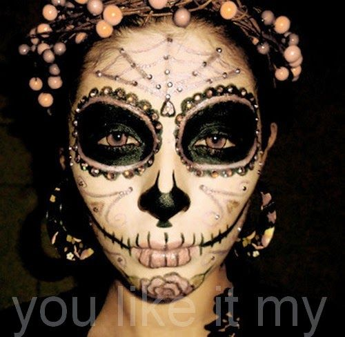 135 best Sugar Skull Makeup images on Pinterest | Sugar skull make ...