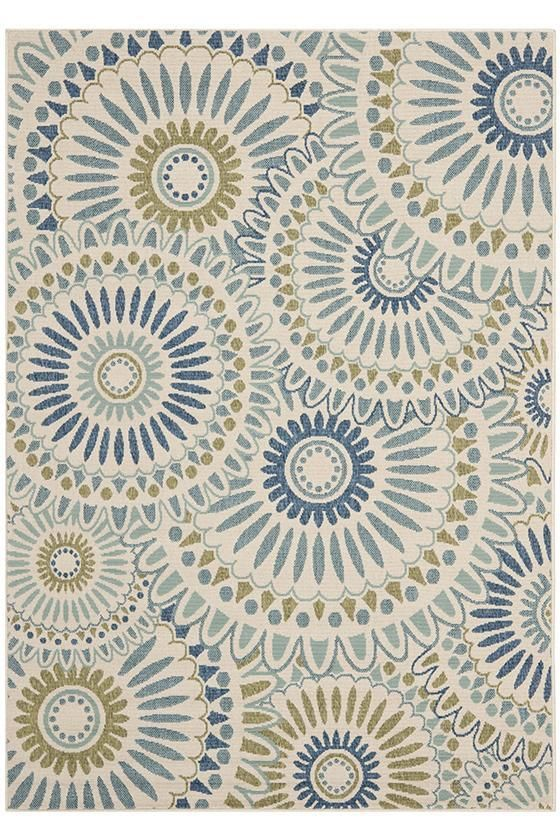 This outdoor area rug would look great on the screened in porch with our green patio furniture - From home decorators - Granada Area Rug I