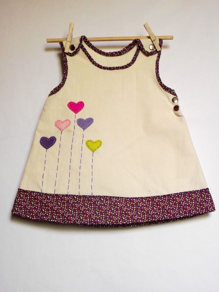 Applique pinafore dress