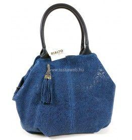 Rialto áttört virágbyomatos kék színű bőr táska R1117CAFI-07