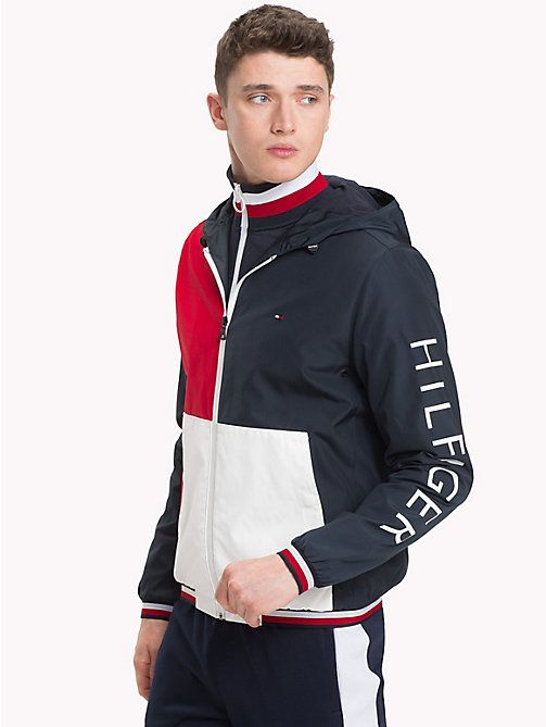 19c42c2b48d11 TOMMY HILFIGER Athletic Hooded Jacket - SKY CAPTAIN - TOMMY HILFIGER  Chaquetas - imagen principal