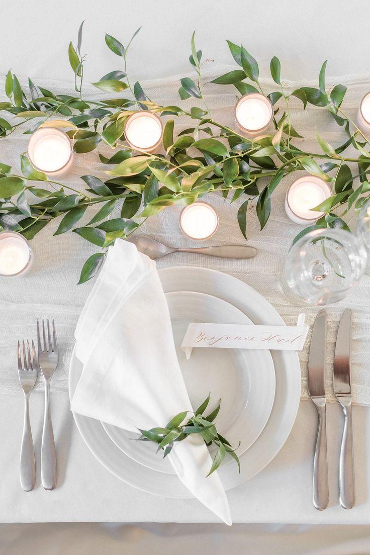 Minimalistische Grün-Hochzeits-Inspiration – #Gr…