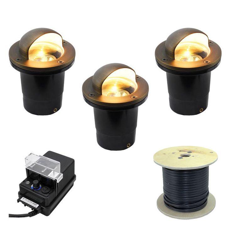12V In Ground Well Light Landscape Lighting Kit - Eyebrow Shield Cover - PGC3B-EB  sc 1 st  Pinterest & Best 25+ Landscape lighting kits ideas on Pinterest | Outdoor ... azcodes.com