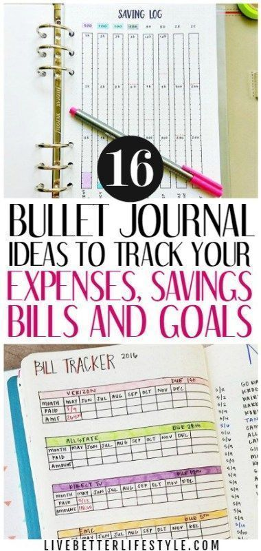 16 bullet journal ideas to manage your personal finance business