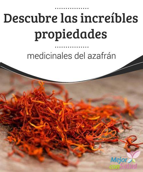 Descubre las increíbles propiedades medicinales del azafrán   El azafrán no sólo se emplea desde hace miles de años para cocinar sino también para ritos y ceremonias religiosas y por supuesto como medicina.