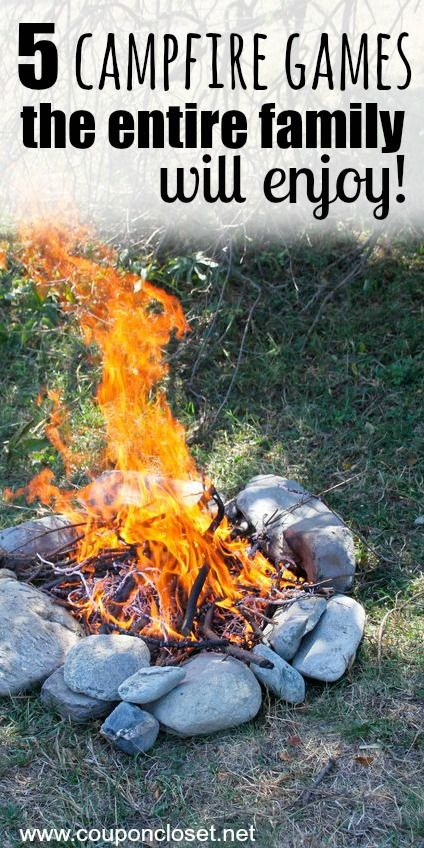 Going camping this Summer? Make sure you play these 5 campfire games that the entire family will love!