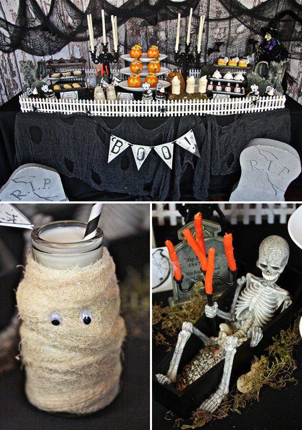 Festa de Halloween: cemitério mal assombrado