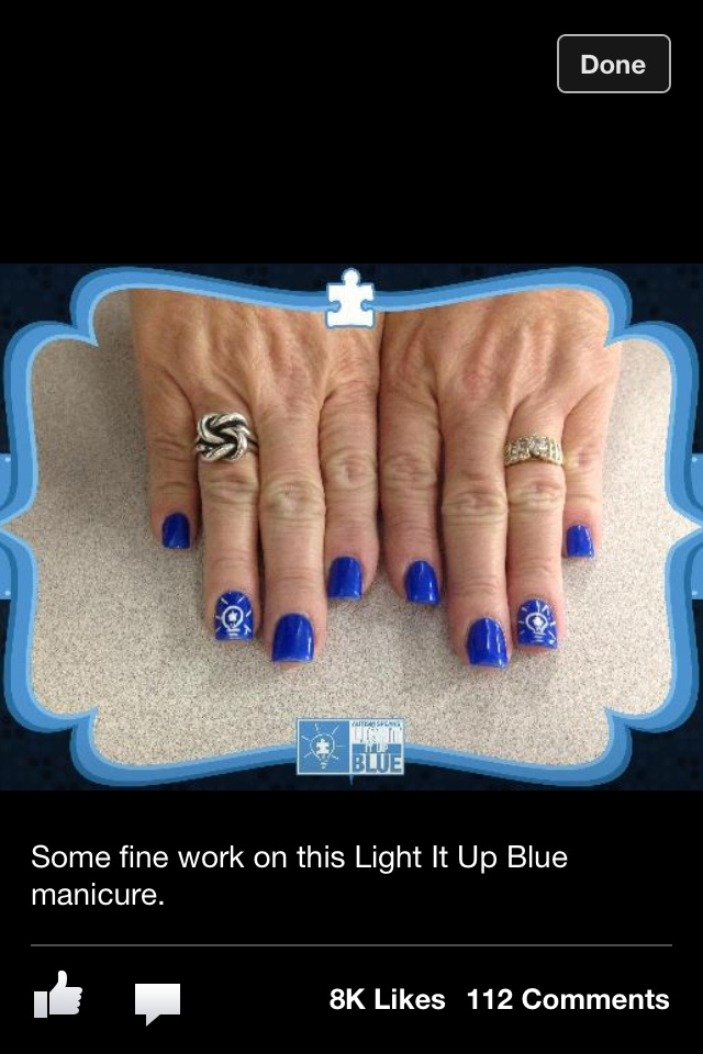 Autism Toe Nail Designs