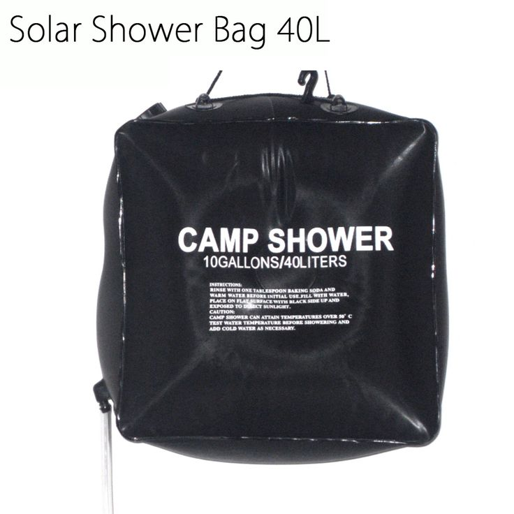 Portable Folding 40L Outdoor Camping Hiking PVC Solar Energy Heated Camp Shower Bag Outdoor Shower Water Bag