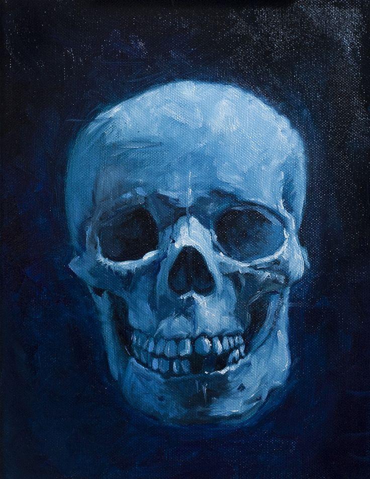 Skull head. Oil on canvas. 2016.